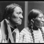 Charging Thunder, Sioux & wife, American Indians