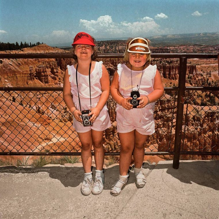 Girls in Matching Pink at Sunset Point, Bryce Canyon National Park, UT 1980
