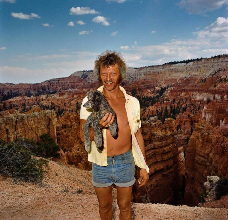 Man with Dog at Sunset Point, Bryce Canyon National Park, UT 1980