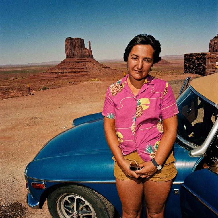 Woman with Hawaiian Shirt at Monument Valley, UT 1980