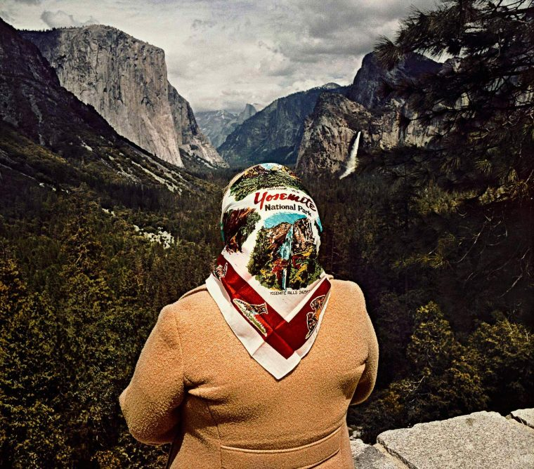 Woman with Scarf at Inspiration Point, Yosemite National Park, CA 1980