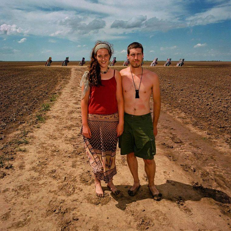 Young Couple at Cadillac Ranch, TX 1998