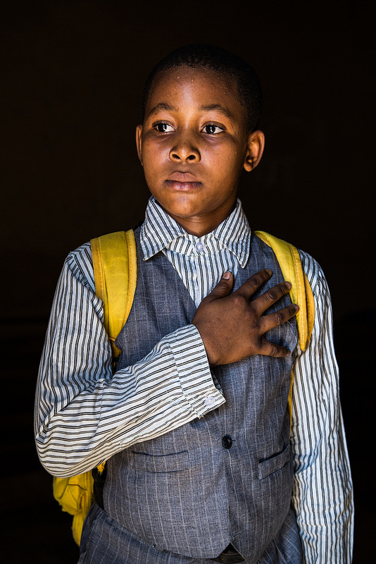 """David, Mali - """"Chciałbym być prezydentem Mali, bo to dobra praca i jest w niej dużo pieniędzy. Chciałbym dobrze służyć mojemu krajowi"""""""