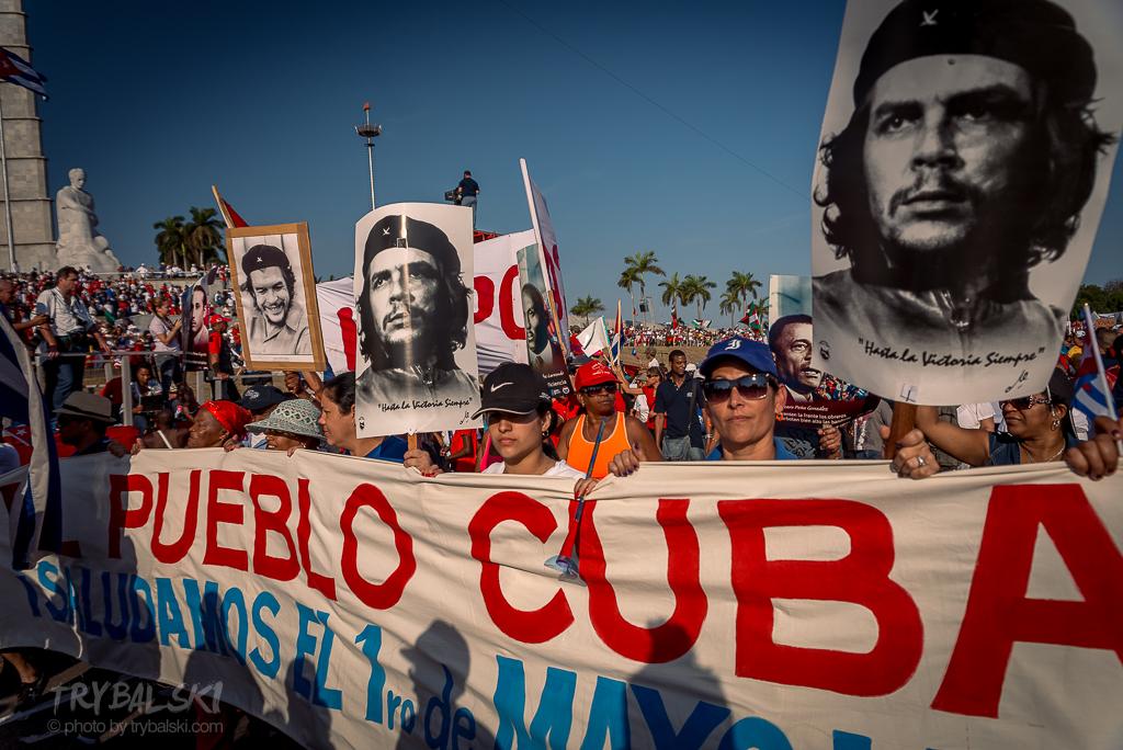 Pochód Pierwszomajowy na Kubie. Zawsze chciałem to zobaczyć.