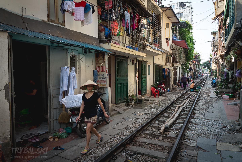 Sceny uliczne w Hanoi...