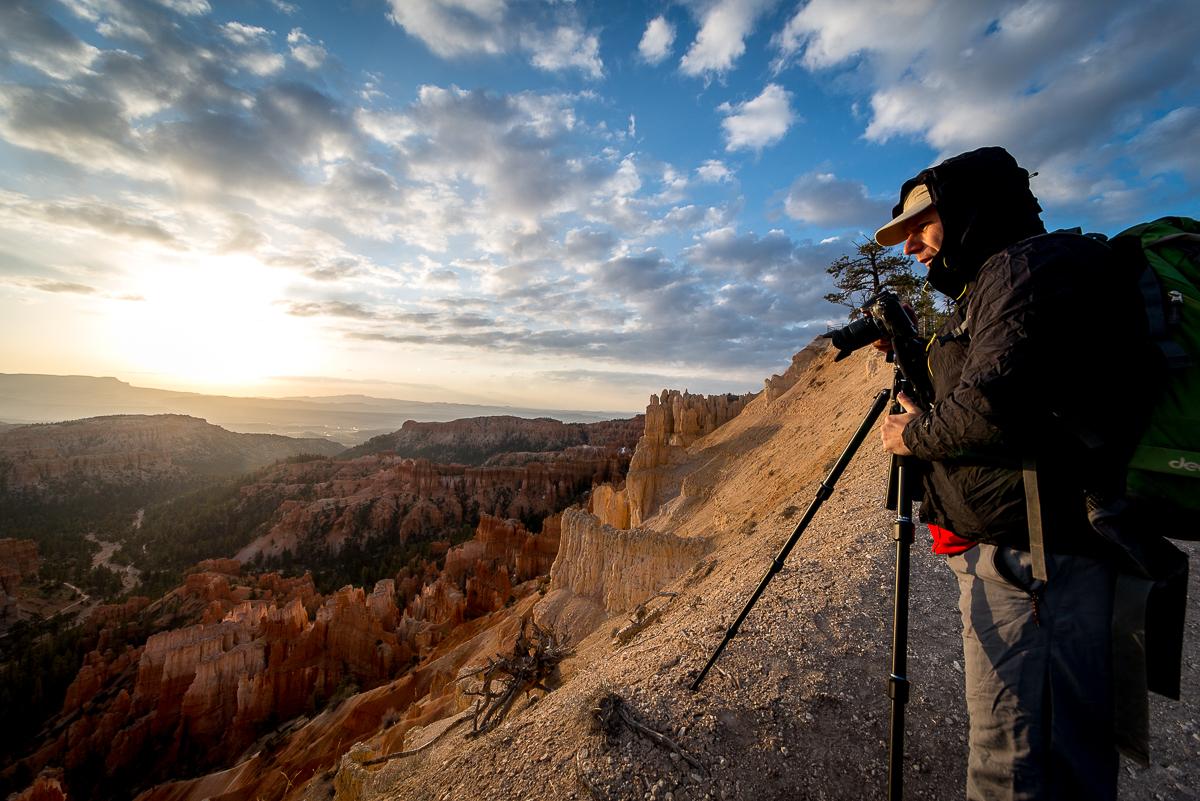 Poranek w Bryce Canyon, temperatura poniżej zera. (fot. Krzyś Biały)
