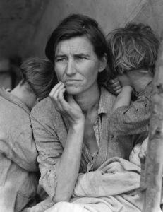 Matka–migrantka, 1936 rok (Wikipedia)