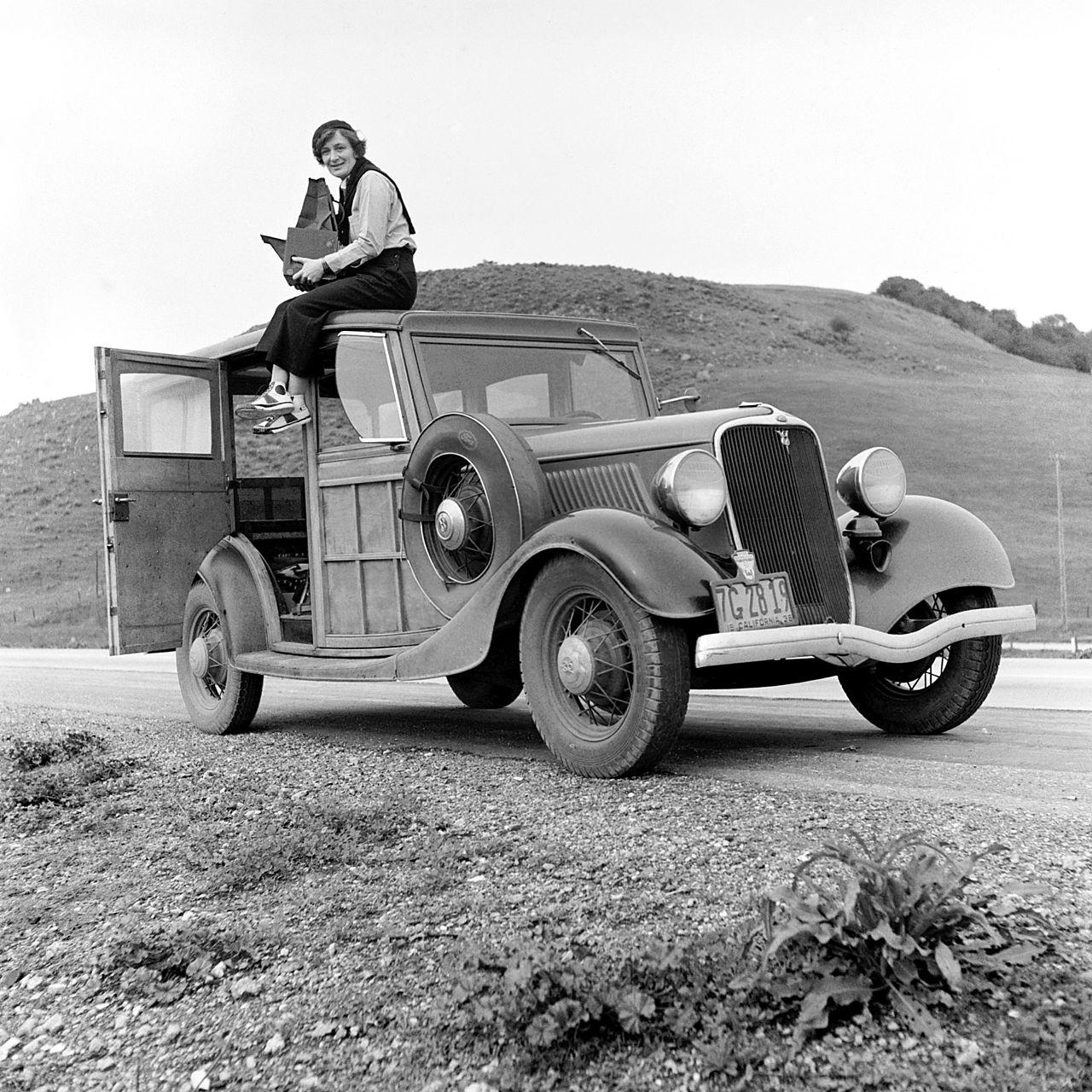 Dorothea Lange jako fotografka Resettlement Administration, 1936