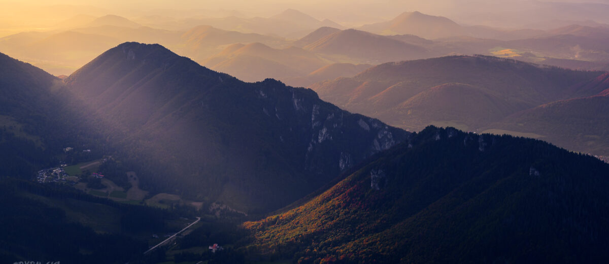 Mała Fatra zachód słońca