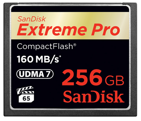 sandisk extreme pro Compact Flash 256 GB